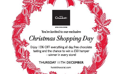 Hotel Chocolat Announces Christmas Shopping Day 11/12/14