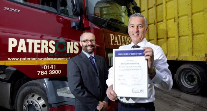 Patersons Waste Management Ltd Commits to National Industry Kite Mark