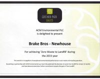 Brakes Scotland Recognised for Landfill Diversion Efforts