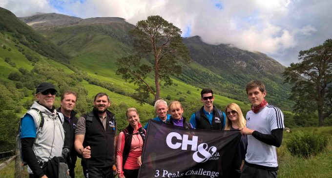 CH&Co Group Conquers Three Peaks Charity Challenge
