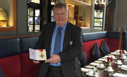 CIS Excellence Lifetime Award-Winner 2015 Receives CBE Honour in Palace Ceremony