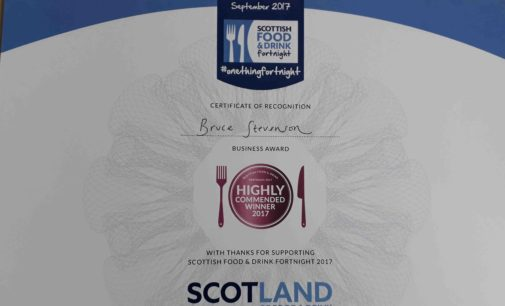 Bruce Stevenson Insurance Awarded Scottish Food & Drink Fortnight Accolade