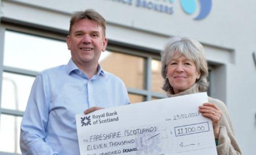 Bruce Stevenson Insurance Raises £11k for Fareshare Scotland