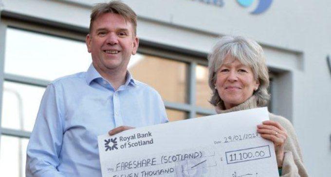 Bruce Stevenson Insurance Raises £11k for Fareshare Scotland