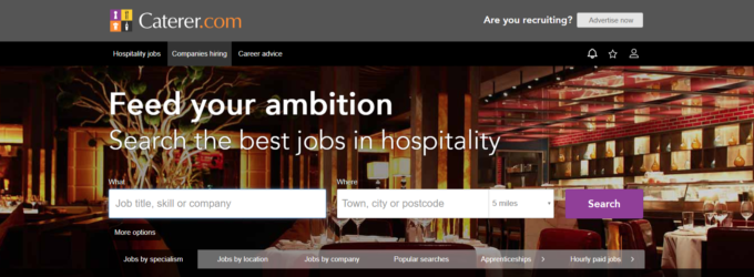 Caterer.com Hospitality Redeployment Hub Launches Online